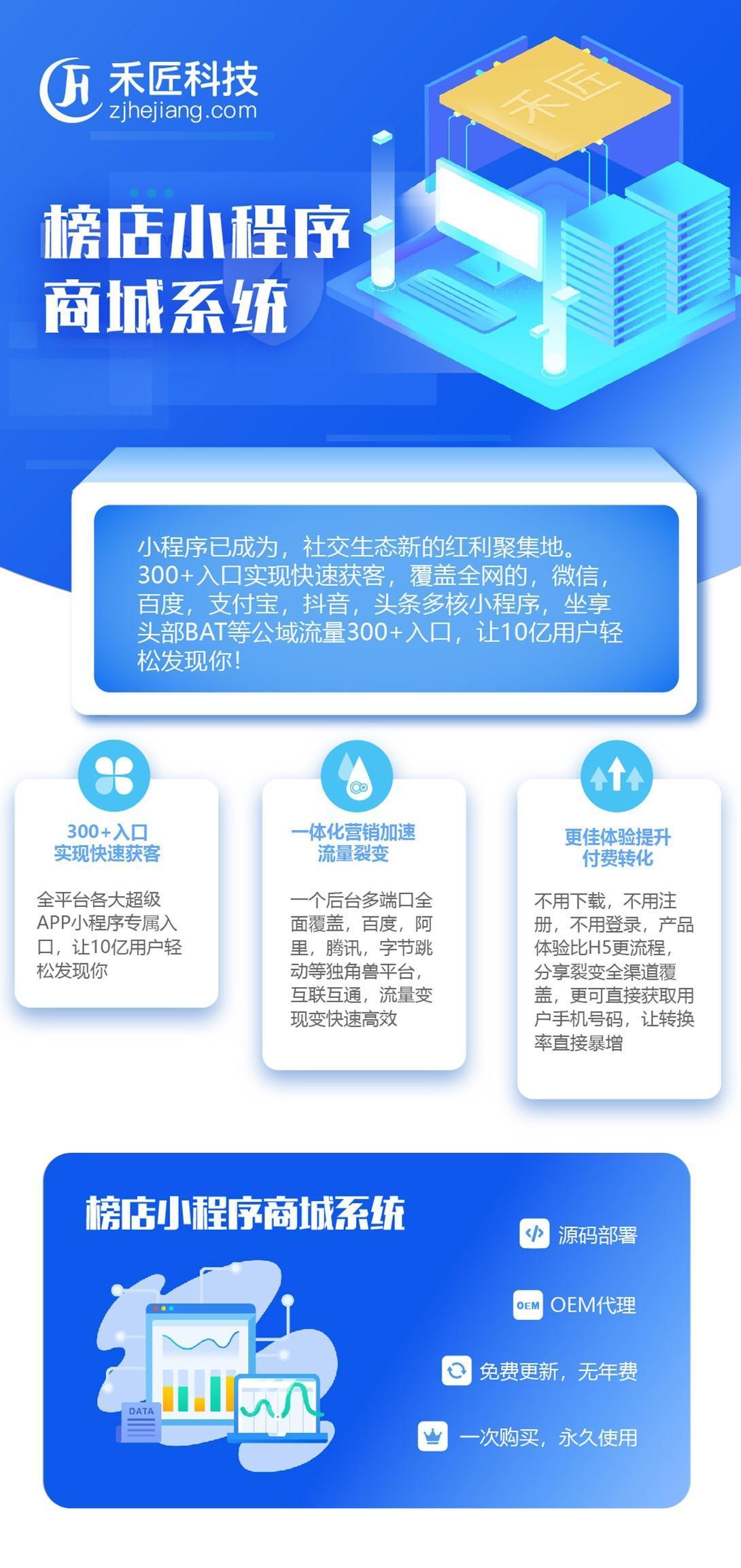 【在线更新全插件】最新禾匠榜店商城独立版V4.4.61一键安装-后台一键更新-前端扫码上传插图1